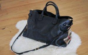 Burberry Shopper black-oatmeal leather