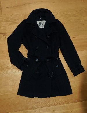 NP:2200,00€ Burberry Wolle Wollmantel Trenchcoat schwarz Gr42/L Mantel