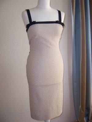 NP:3.500€ Original Louis Vuitton Kleid Seide Gr.38 dt36/S beige/nude Etui-Kleid