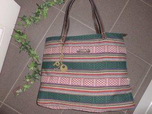 NP:319,00€ große Picard Stoff-Tasche Shopper Handtasche bunt Leder Uni-Tasche