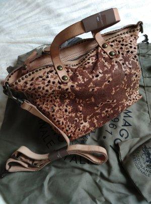 NP:349€ CAMPOMAGGI Leder Tasche mit Nieten beige Umhängetasche