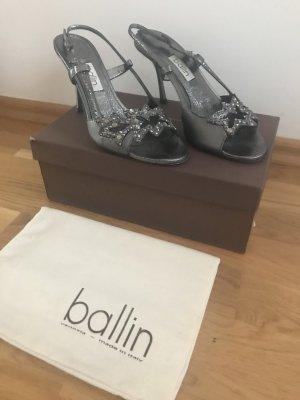 Sandalo grigio-grigio scuro