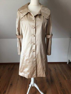 NP 500€ Nicowa Seide Mantel Trenchcoat beige nude 40 42 brautmantel