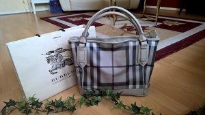 NP: 890,00€ Große Original Burberry Handtasche Shopper Smoked Check grau Tasche