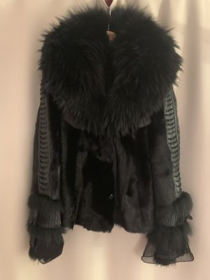 Veste de fourrure noir pelage