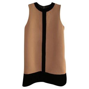 NP ca.890€ Fausto Puglisi Seidenkleid Etuikleid Samt Kleid Seide in Ocker 36 S_M