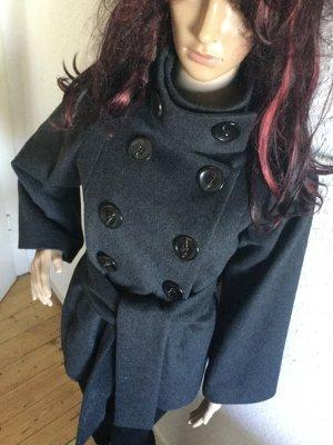 Zara Manteau en laine gris foncé-gris