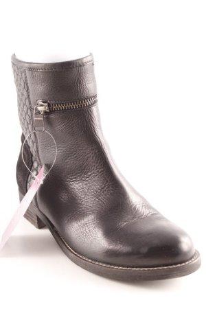 Nubikk Ankle Boots schwarz Steppmuster Casual-Look