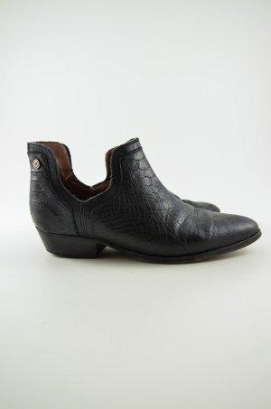NUBIKK Damen Schuh Halbschuh Leder Reptiloptik Schwarz Gr.36