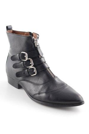 Nubikk Reißverschluss-Stiefeletten schwarz Casual-Look