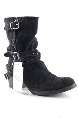 Nubikk Reißverschluss-Stiefeletten schwarz klassischer Stil
