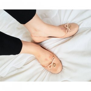 andrée Peep Toe ballerina's nude