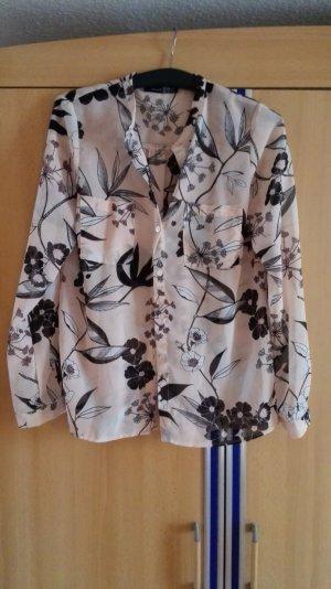 Nude Bluse mit Blumenmuster Größe 38 M
