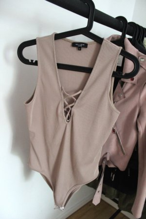 New Look Petite Blusa tipo body beige
