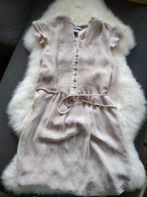 nude cremé Kleid Tunika Blusenkleid Hemd Oberteil von H&M Gr. 36 s smal wie neu