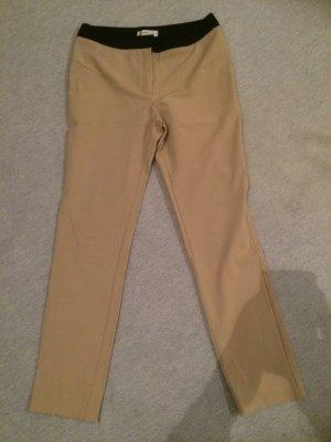 nude / creme Stoffhose / Polyesterhose von Mango Suit - Gr. 36