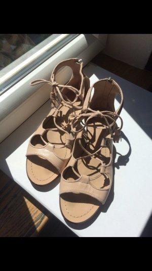 Nude farbene Sandalen von Zara Größe 39, Sommer hochzeit