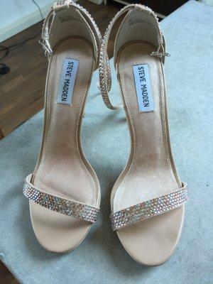 Nude Glitzer high heels