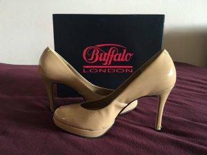 Nude High Heels Patent Soft Von Buffalo *41*