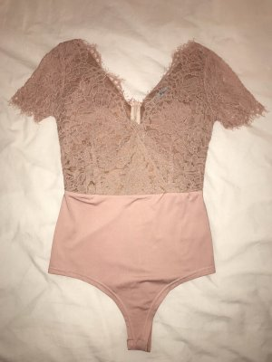 Nude Pink Lace Body top