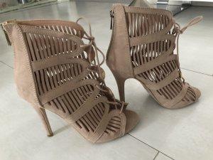 Nude/ rosa High Heels Gr. 37