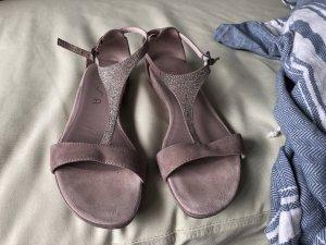 Unisa Sandalo con cinturino rosa antico-rosa chiaro Pelle