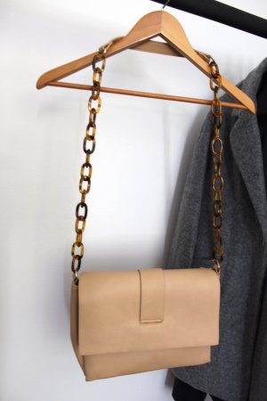 Pull & Bear Sac bandoulière rose chair-cognac