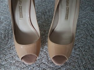 Buffalo London Peep Toe Pumps nude