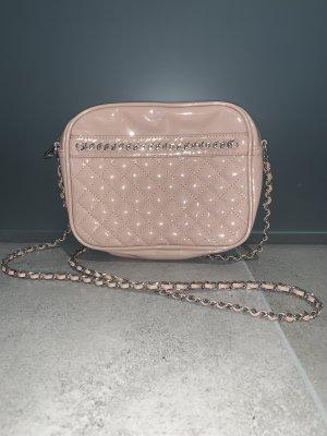 Mango Mini sac rose chair-argenté faux cuir