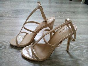 Nudefarbene Sandaletten
