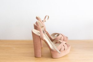 Buffalo High-Heeled Sandals light pink-dusky pink