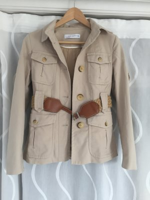 Zara Woman Safari Jacket camel-beige mixture fibre
