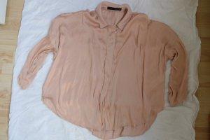 Zara Blouse en soie beige-rose chair