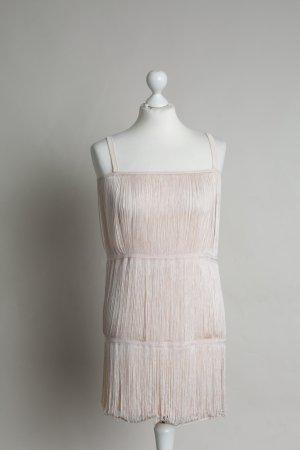 Nudefarbenes 20er Jahre Kleid NEU