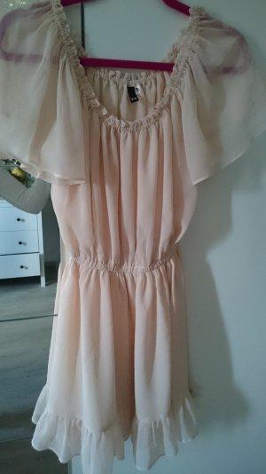 nudefarbenes Kleid von H&M