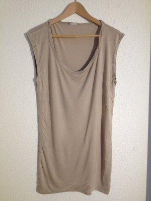 Nudefarbenes Longshirt