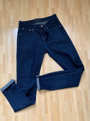 Nudie jeans Low Rise jeans donkerblauw