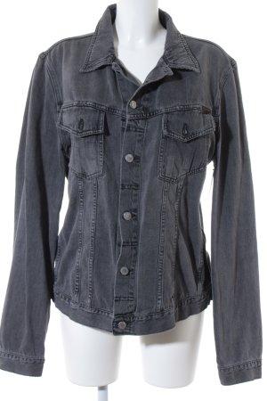 Nudie jeans Jeansjacke grau Jeans-Optik