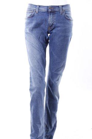 Nudie Jeans Röhrenjeans blau