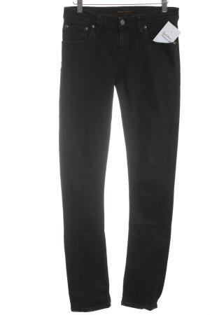 Nudie jeans Röhrenjeans schwarz Casual-Look