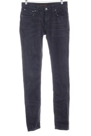Nudie jeans Skinny jeans antraciet gewassen uitstraling