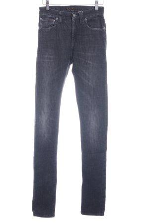 Nudie jeans Skinny Jeans dunkelgrau Casual-Look