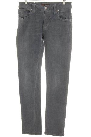Nudie jeans Skinny Jeans grau Casual-Look