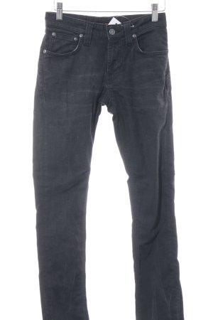 Nudie jeans Skinny Jeans schwarz Used-Optik
