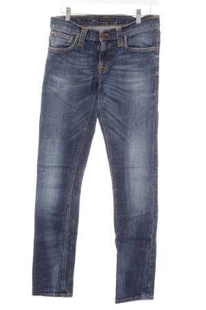 Nudie jeans Skinny Jeans stahlblau Casual-Look
