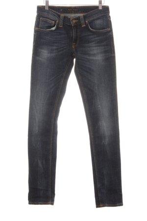 Nudie jeans Jeans slim bleu foncé style décontracté