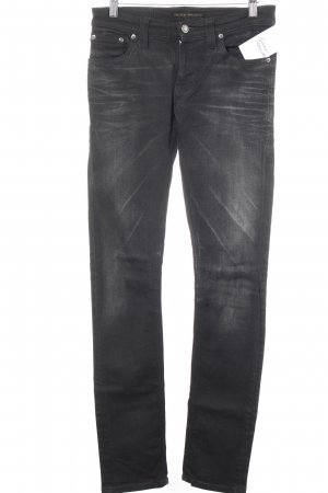 Nudie jeans Slim Jeans schwarz Casual-Look