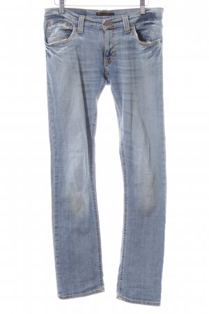 Nudie jeans Straight-Leg Jeans blau Casual-Look