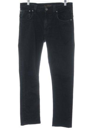 Nudie jeans Straight-Leg Jeans schwarz Casual-Look