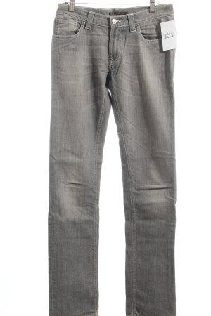 Nudie jeans Straight-Leg Jeans grau klassischer Stil